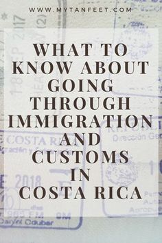 What you need to know about going through immigration and customs in Costa Rica. Click though to read: https://mytanfeet.com/costa-rica-travel-tips/customs-immigration-sjo-lir-airport/ Costa Rica | Costa Rica travel tips | Costa Rica travel blog