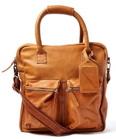 This Tobacco Cargo Pocket Leather Convertible Tote is perfect! #zulilyfinds