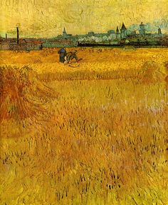 Gogh, Vincent van (Dutch, 1853-1890) - Arles, view from the wheatflelds - 1888 | Flickr - Photo Sharing!
