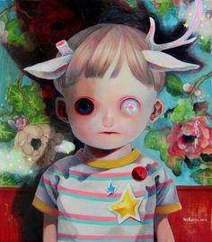 As macabras e demoníacas crianças nas pinturas de Hikari Shimoda