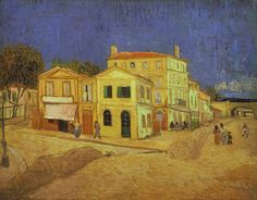 """""""Vincent's House in Arles (The Yellow House)"""" (1888) by Vincent Willem van Gogh"""