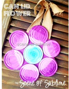 Can lid flower