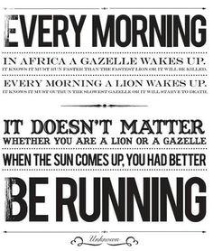 Wake up running!