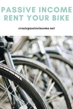 Make money renting out your bike #passiveincome #makemoney #makemoneyonline Make Money From Home, Way To Make Money, Make Money Online, Passive Income Streams, Creating Passive Income, Business Advice, Online Business, Success Mindset, Renting