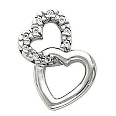 Platinum Diamond Double Linked Heart Pendant - 0.075 Ct. Gems-is-Me. $1068.76. FREE PRIORITY SHIPPING. This item will be gift wrapped in a beautiful gift bag. In addition, a 'gift message' can be added.