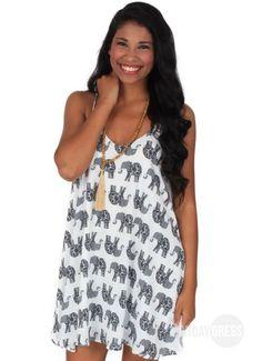Walking With Elephants Dress | Monday Dress Boutique