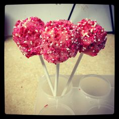 Marshmallow pops for a baby shower