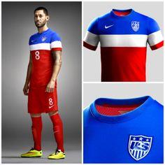 USA 2014 Away Soccer Jersey