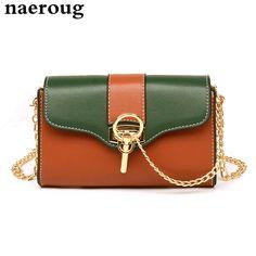 30d660b462da Small Women s Shoulder Bag Designer Multicolor Patchwork Messenger Bags  Chain Strap Crossbody Bags Cute Design Lock