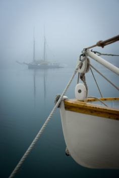 Through the Fog...by Scott Marx; the deck of the Mary Day ~Coast of Maine