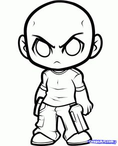 t-dog walking dead | how to draw chibi t-dog, the walking dead step 6