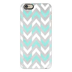 iPhone 6 Plus/6/5/5s/5c Case - Teal & White Herringbone Chevron on... ($40) ❤ liked on Polyvore featuring accessories, tech accessories, phone cases, cases, cell phone, iphone case, phone, iphone cover case, apple iphone cases and silver iphone case