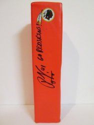 SOLD OUT! Ryan Kerrigan signed Washington Redskins Rawlings football touchdown end zone pylon w/ proof photo.  Proof photo of Ryan signing will be included with your purchase along with a COA issued from Southwestconnection-Memorabilia, guaranteeing the item to pass authentication services from PSA/DNA or JSA. Free USPS shipping. www.AutographedwithProof.com is your one stop for autographed collectibles from Washington DC teams. Check back with us often, as we are always obtaining new items.