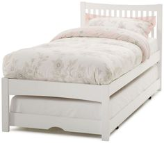 Finance Available On Serene Mya Opal White Single Wooden Guest Bed. Have Your Serene Mya Opal White Single Wooden Guest Bed delivered by bedstardirects experienced delivery team. Hideaway Bed, Murphy Bed Ikea, White Headboard, Cheap Bed Sheets, Guest Room Office, Beds For Sale, Under Bed, Guest Bed, Bed Plans