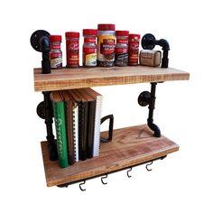 Farmstead Kitchen Spice & Pot Rack | dotandbo.com
