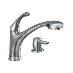 delta lewiston stainless 1 handle high arc kitchen faucet with side