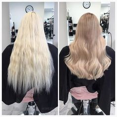 From a platinum blonde hair bis a very soft ombre. Using olaplex s . # From # hair # hel Blonde Hair Black Girls, Dark Blonde Hair Color, Blonde Hair Looks, Brown Blonde Hair, Platinum Blonde Hair, Inspo Cheveux, Cut Her Hair, Balayage Hair, Dyed Hair