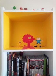 Prismo's Time Room Bookcase [x-post by u/kathymertens] : adventuretime Adventure Time Room, Adventure Time Cartoon, Adventure Time Wallpaper, Indie Room Decor, Bedroom Decor, Room Goals, Room Themes, Room Inspiration, Kids Room