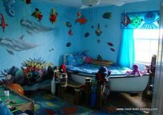 Under the sea nursery ideas under the sea baby nursery underwater bedroom theme ocean themed room . Ocean Bedroom Kids, Kids Bedroom Boys, Sea Nursery, Baby Boy Nursery Themes, Baby Boy Rooms, Baby Room, Kids Rooms, Nursery Ideas, Boy Nurseries