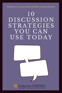 Every English language arts teacher needs a variety of successful, student led discussion strategies that will provide opportunities for student learning.
