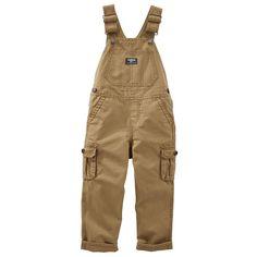 Toddler Boy OshKosh B'gosh® Brown Cargo Overalls, Size: