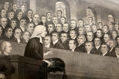 A close-up from a depiction of John Wesley preaching at City Road Chapel in London hangs inside The Old Rectory in Epworth. Photo by Kathleen Barry, United Methodist Communications John Wesley, City Road, John Charles, Christianity, Old Things, Faith, Essentials, London, News