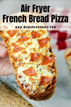 Air Fryer French Bread Pizza (Instant Pot Vortex) - Mama needs cake - # . - Air Fryer French Bread Pizza (Instant Pot Vortex) – Mama a besoin de gâteau – # Pai - Air Fryer Recipes Breakfast, Air Fryer Dinner Recipes, Air Fryer Oven Recipes, Instant Pot, Pain Pizza, Sauce Pizza, Air Frier Recipes, French Bread Pizza, French Bread Recipes