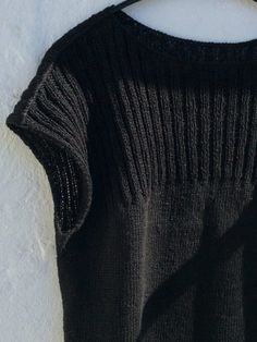 Hør no. 1 – garnkit Crochet Tank, Knit Crochet, Crochet Pattern, Tweed Vest, Knit Cardigan Pattern, Summer Sweaters, Dressmaking, Knitting Patterns, Knitting Ideas