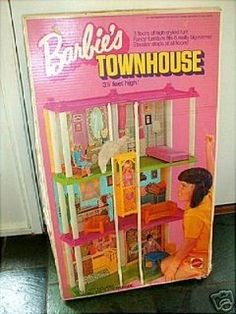 BARBIE HOUSE... I must confess- I had one. It was this one with the elevator from the 1970's.
