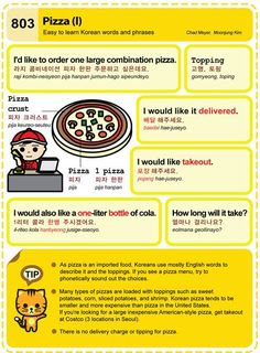 803-Pizza. Easy to Learn Korean