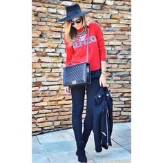 Thassia Naves casual style in red and black