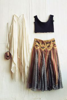 boho, look, Selena Gomez, inspired, indie, gypsy, hippy, music festival, style, fashion, sweater, crop top, maxi, skirt, maxi skirt