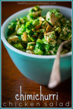 Chimichurri Chicken Salad on Healthy Seasonal Recipes
