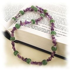 Amethyst and Aventurine  Necklace (One Day Sale, 25% off today)