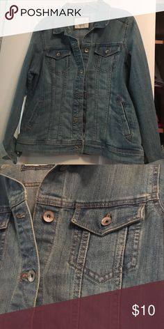 Denim jacket Light blue denim jacket. Button detail $8 firm. Well worth every penny! Jackets & Coats Jean Jackets
