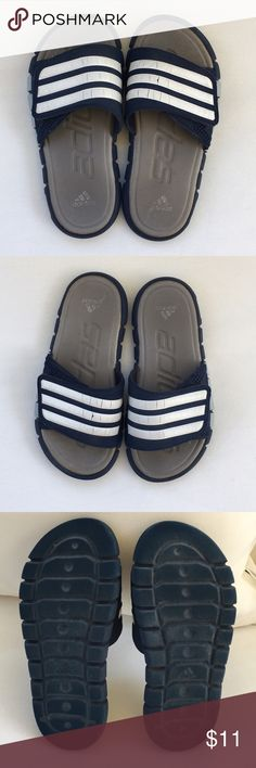 e6d3b47b7 Adidas Boy s Super Cloud Slides Adidas slides with Velcro closure. Comfort  and a fashionable look