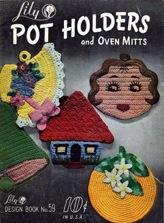 Vintage Pot Holders and Oven Mitts Crochet Pattern by cemetarian