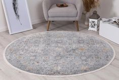 Istanbul Vintage Aysan Multi Round Rug  Pile Height: 5mm Material: 65% Polypropylene,35% Polyester Rug Type: Indoor Easy to clean Style(s): Modern & Contemporary Pattern(s):Vintage, Modern