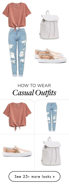 """Casual 1"" by ribeiroiana on Polyvore featuring Aéropostale, Vans and Topshop"
