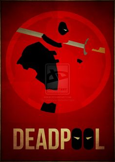 Deadpool Minimalism by skellerone on deviantART