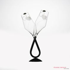#Flute #Coeur #Cristal #Cadeau #Mariage