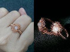 Sun ring adjustable size - nhẫn mặt trời làm từ dây đồng - Handmade Jewelry Ideas 272 - YouTube #wirejewelry