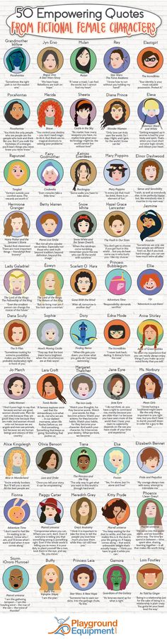 50 empowering quotes from fictional female characters (infographic)