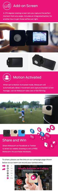 mokacam 4k ultra hd sport dv 1080p