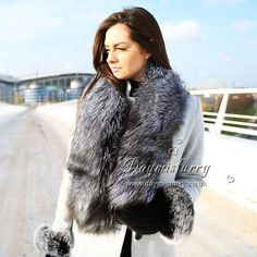 Features Authentic Fox Fur - ranch raised, very popular fur Long, lush and silky fur Soft stain lining inches long inches wide Light weigtht One size fits all Unisex Great gift idea! Winter Coats Women, Coats For Women, Cyberpunk Fashion, Gothic Fashion, Fur Gilet, Raver Girl, Thigh High Boots Heels, Fur Collars, Fox Fur