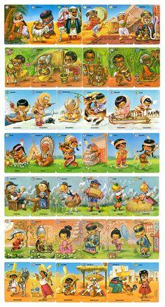 Juego de cartas de Fournier de las familias. Se empezaron a comercializar en 1965 y fueron muy populares hasta bien entrados los 80.