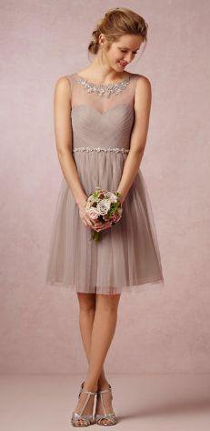 Robe témoin de mariage grise , Goldy Mariage