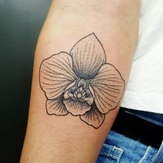orchid tattoo by Ruby Gore Classy Tattoos, Old Tattoos, Cover Up Tattoos, Body Art Tattoos, Tatoos, Piercings, Piercing Tattoo, Grandma Tattoos, Flor Tattoo