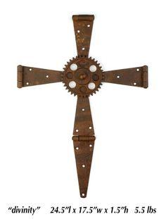 Handmade Rusty Metal Cross by SteelArtist on Etsy