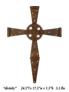 Rusty metal cross